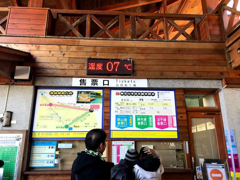 阿里山車站內溫度計